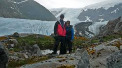 Hiking in Estero Coloane. This was a beautiful bay with 3 different glaciers that we could see from the boat.