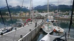 Ushuaia from our boat at the Club Nautica pier