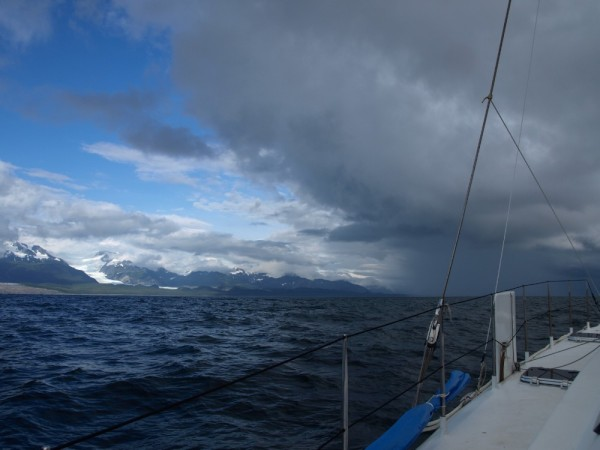 Just north of Cape Spencer and the Inside Passage.