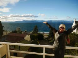 We finally made it to Bariloche, having missed one bus and almost missing the second attempt. We were welcomed with clear blue skies and a beautiful view.