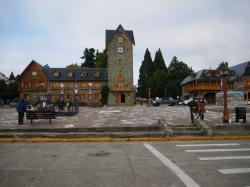 Bariloche town center, strong Bavarian influence