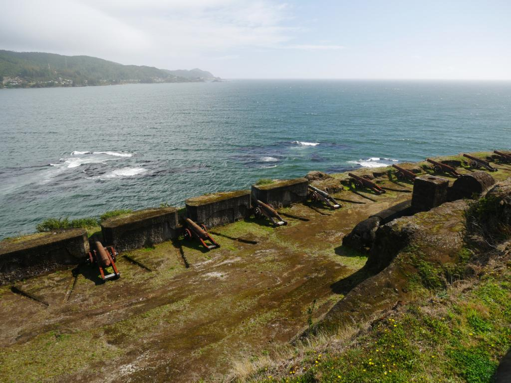 In 1645 the Spanish began building fortresses with gun batteries to protect the entrance of Bahia Corral.