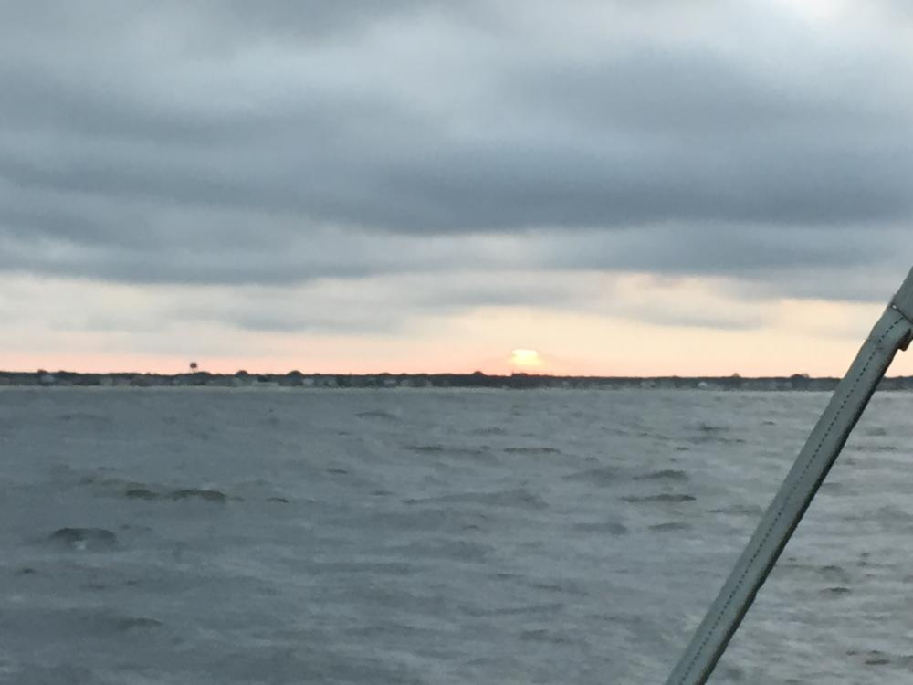 Sunset on way to Cape May
