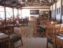 Octopus Resort dining area - love the sand floor