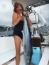 My 25 lb Wahoo - I could hardly lift him up - yummy