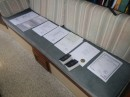 "Our ""smorgasboard"" of paperwork on Mokisha"