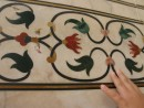 Pietra dura; inlaid precious stones into Indian marble