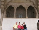 Seat of royalty in Agra Fort