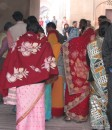Colorful saris at Agra Fort