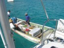 Fresh foods delivered to San Blas via water taxi!