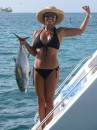 Tuna we caught while sailing at 9.5 knots from Coco Banderos to Lemmon Cays