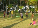 Christmas cricket game on BBQ Island