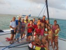 Christmas Eve Party on Zen in Holandes Cays, San Blas