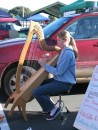 Whangarei Farmers Market - one of many young musicians playing from about 6:30a until 10:00a every Saturday