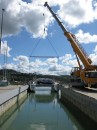 Zen being hauled out for regular maintenance at Friendship Yachts and Dockland 5 in Whangarei, NZ