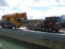 80 Ton crane getting ready to haul Zen out of the water in Whangarei, NZ