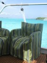 Aft view Tobago Cays
