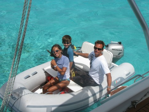 Our family car in Tobago Cays