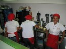 Happy ice cream servers near Flamenco Marina in Panama City
