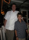 David, our chef from Angermeyer Restaurant, with his biggest (or littlest) fan