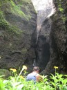 Waterfall and flowers, Nuku Hiva