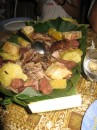 Abundance at our pig roast in Nuku Hiva