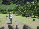 Starting our hike to waterfall, Nuku Hiva