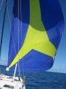 All spinnaker during ocean passage