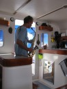 Rick, on s/v Tara Vana, playing a little jazz on the sax for us