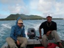 Niko and Cole in the channel of Niuatoputapu, Tonga