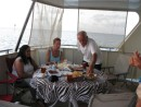 Afternoon tea on Karma - Richard, Sia and Julie (Flashback) - Niuatoputapu, Tonga
