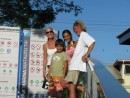 Julie, Geoff, Cole and Cammi in Apia Marina