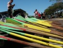 Paddles for 50-person boat sport canoe in Apia