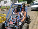 Tom and Cam getting ready for the adventure tour in the Tongan dirt!