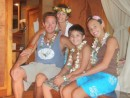 Zen family in our master bedroom, Le Tahaa Hotel and Spa