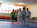 Cole w/the boys at karate class in Whangarei