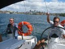 Greg and Tom at the helm stations