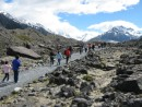 Hiking to see Tasman Glacier near Mount Cook Village