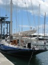 The beautiful yacht Endearvour getting a refit in Auckland