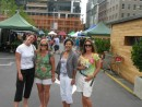 Lauren (Wayward Wind), Rina (Follow You Follow Me), Suzanne (Carinthia) and Stacey (Lightfoot) accompany me to the Farmers Market in Auckland on Saturday morning