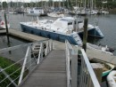 Zen, awaiting her mast, but sitting pretty at Town Basin Marina, Whangarei, NZ