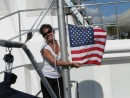 Raising the American flag in US waters again!