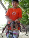 Cole and a coconut crab!