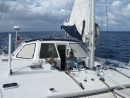 Sailing from Tahaa to Bora Bora