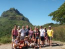Group hike in Bora Bora