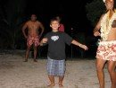 Cole finally shows his stuff on the dance floor in Aitutaki