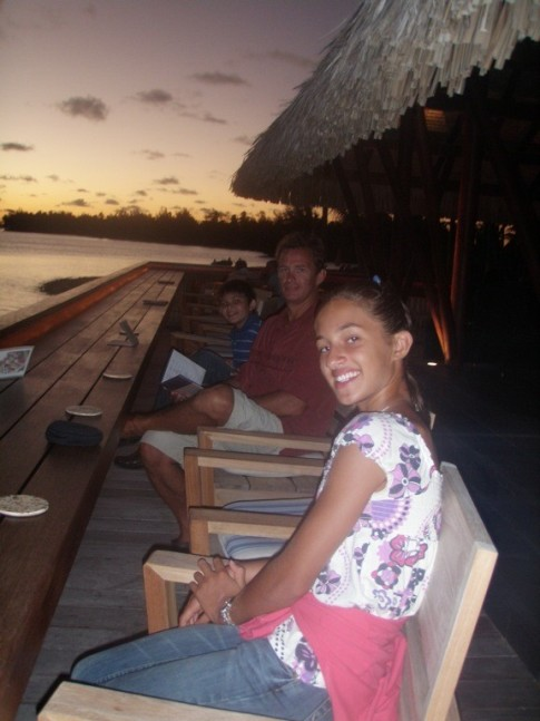Sunset Dinner at Four Seasons, Bora Bora