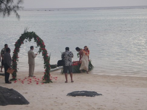 Wedding at Aitutaki, Cook Islands