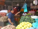 Tony, our taxi driver, helping w/provisioning at the fresh market in Panama City - s/v Lightfoot