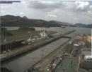 Going down into Pacific in Miraflores Locks
